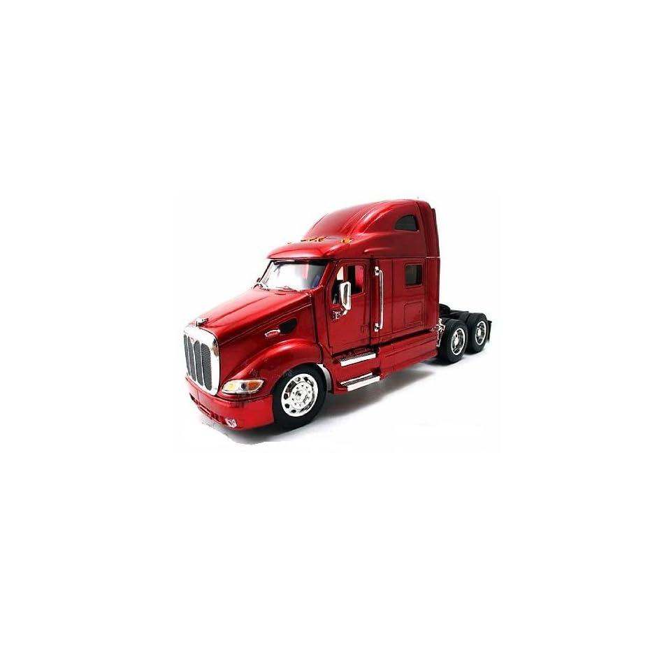 Jada Toys RoadRigz   Peterbilt 387 Model Tractor Trailer (132, Red) diecast car model