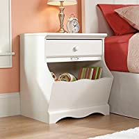 Sauder Pogo Night Stand, Soft White Finish