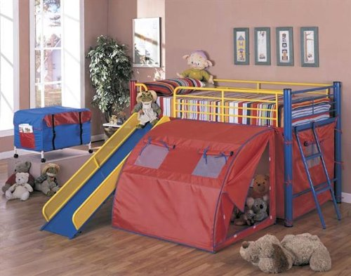 Bed With Slide And Tent