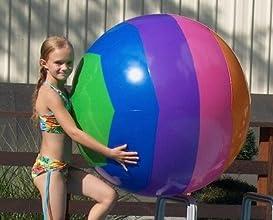 Prextex Giant 423939 Inflatable Beach Ball with Mesh Beach Bag  2 Pack