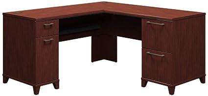 Bush L-Shaped Desk, 60-Inch by 60-Inch by 30-Inch, Harvest Cherry