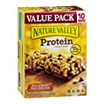 Nature Valley Protein Chewy Bars Value Pack Peanut Butter Dark Chocolate – 10 CT