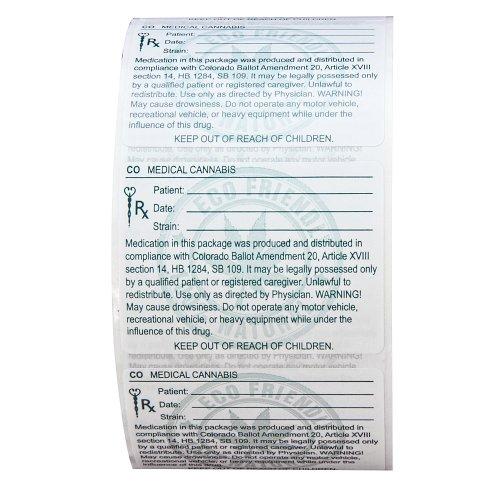 Amazon.com : Rx/ Medical/Cannabis/Marijuana Labels/Stickers - Colorado
