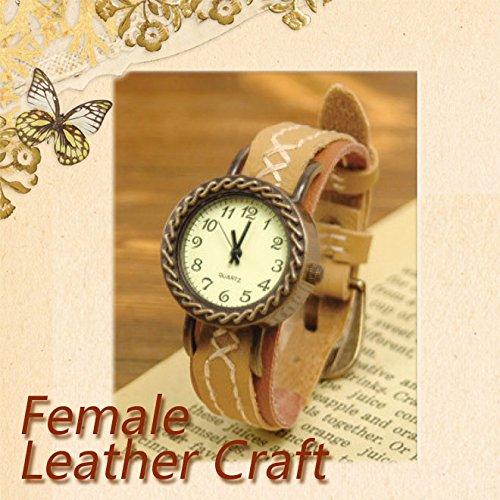 手作りの腕時計を作れるレザー アクセサリー キット【皮の小物】【手芸キット】 時計CGLZG04 ベルトCGLZGK02