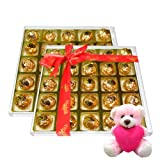 Valentine Chocholik Premium Gifts - Most Tasty Assorted Chocolate Box With Teddy