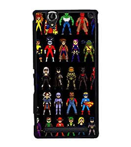 printtech Superhero Collection Back Case Cover for Sony Xperia T2 Ultra , Sony Xperia T2 Ultra Dual