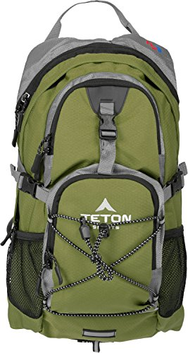 TETON Sports Oasis 1100 2 Liter Hydration Backpack Perfect for Biking, Hiking, Climbing, and Hunting; Green (Teton Oasis 1200 compare prices)