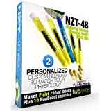 NZT-48 Customized, Personalized Nootropic Performance Drink Mix. Brain Booster With Celastrus Paniculatus Extract, CDP Choline, Uridine, Guarana - 28 Proven Effective Ingredients. 8 Drinks+10 Caps (Color: Natural White, Tamaño: Mix with 750ml water)