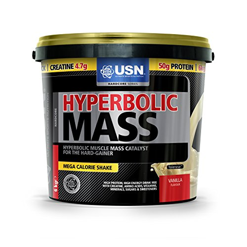 USN Hyperbolic Mass 6000 g Vanilla Weight and Muscle Gain Shake Powder