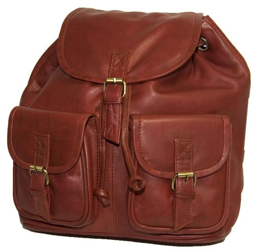 Visconti Large Leather Rucksack Backpack # 02510