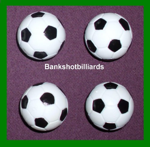 Check Out This Regent-Halex Replacement Foosballs (Pack of 4), Black/White, Small