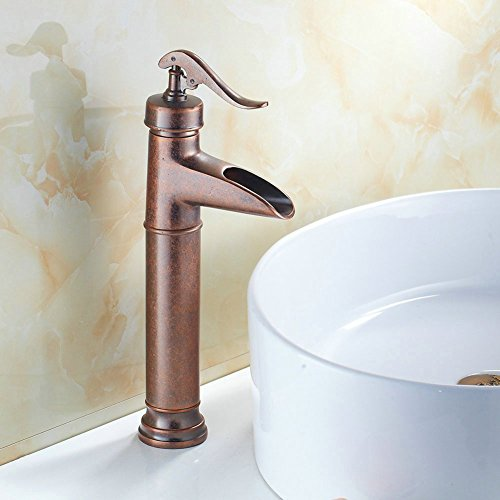 Rustic Looking Bathroom Faucets: Copper Waterfall Faucets Price Compare
