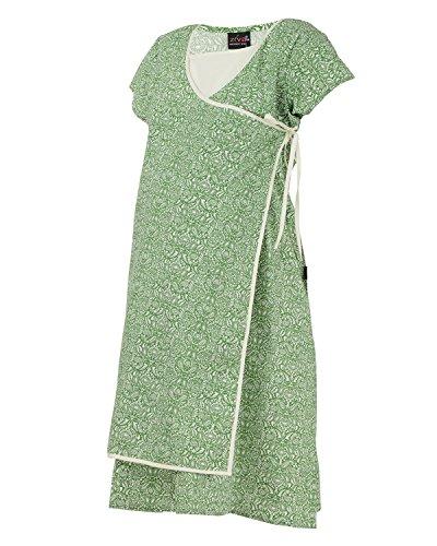 Ziva Maternity Wear Women's Cotton Square Neck Kurta (ZMN1432_Greenprint_L, Green, L)