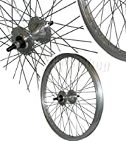 """BMX 20"""" FRONT Bicycle Cycling Wheel 48 Spoke """"SILVER"""" Rim 10mm Axle TWF002S from BMX"""