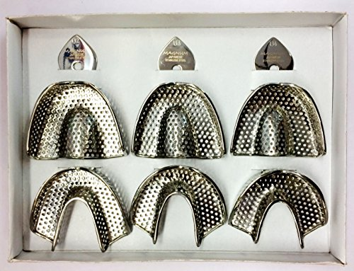6 Dental Impression Trays Set Solid Denture Dental Instruments Original Magnum U2 U3 U4 front-584315