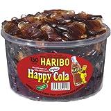 Haribo Happy Cola, 150 pièces, 1200g Barquette hermétique