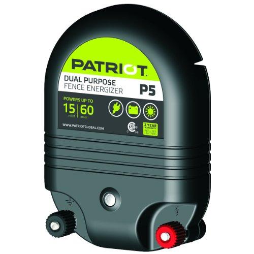 Patriot P5 Dual Purpose Electric Fence Energizer, 0.50 Joule