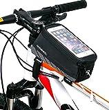 ArcEnCiel JAPAN自転車フレームバッグ 5.5インチフロントバッグ iPhone6/7S対応 (黒)