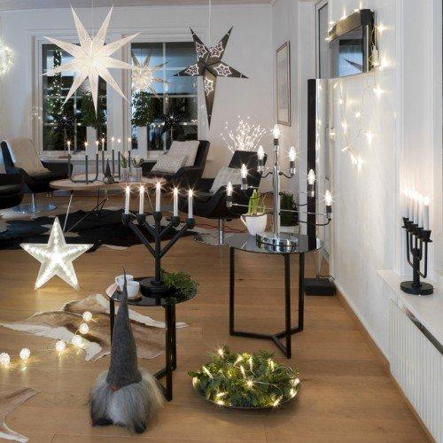 LED Mini-Lichterkette für innen, 10 klare Kerzen