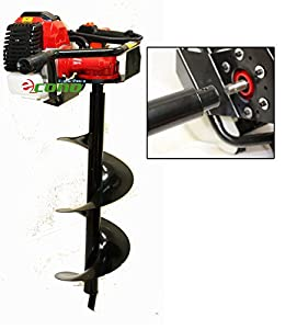 49cc 2 3hp Gas Powered Earth Post Hole Ice Digger W 250mm X 30 Earth Auger Bit
