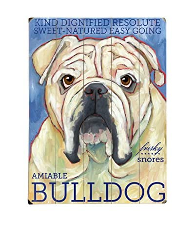 Artehouse Bulldog Wood Wall Décor