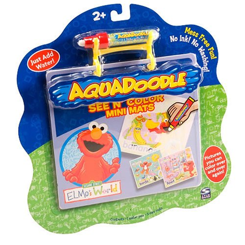 Buy Spin Master Aquadoodle See N' Color Mini Mats ELMO'S WORLD