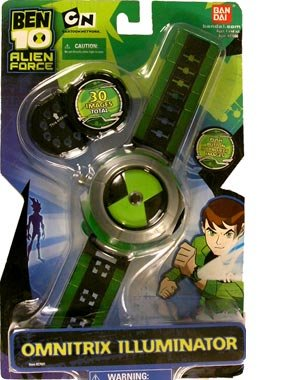 2008 Ben 10 Ten Alien Force Omnitrix Illuminator 30 Images Black & Green Face