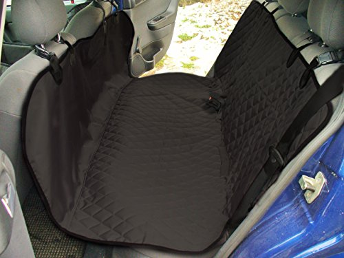 Dog Seat Cover - Pet Seat Protection for Cars with Headrest - Premium Quality Waterproof Hammock - 2 Colors (Black)