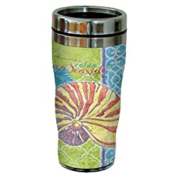 Tree-Free Greetings sg23421 Fantasy Shell by Paul Brent Sip N Go Stainless Steel Tumbler 16-Ounce
