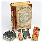 Vintage Italian Book Discreet Smoke Box Includes: RAW Rolling Papers