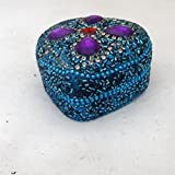 Handmade Boxes Indian Vintage Style Antique Pill Box Table Top Decorative Handicraft Designer Lac Beaded Material...