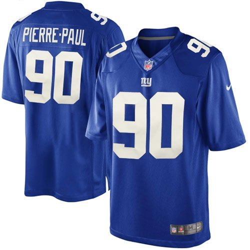 New York Giants Jason Pierre Paul Official Nike Red Game: New York Giants Authentic Jersey, Giants Official Jersey