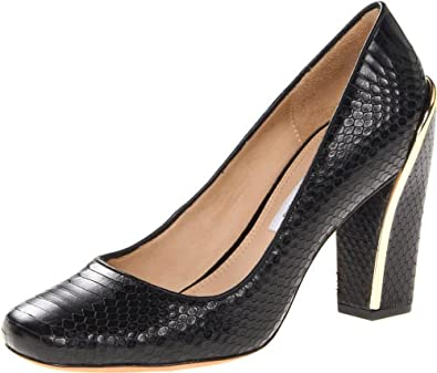 (新品)亮纹 高跟鞋Diane von Furstenberg Women's Gaby Pump,黑,仅仅$223.50