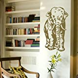 Elephant Vinyl Wall Transfer / Huge Interior Decor / Wall Decal / Mural x38