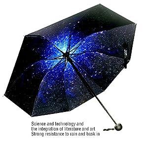 Umbrella, automatic folding travel Creative Star umbrella compact automatic open close umbrella, sky