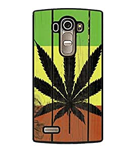Vizagbeats Cannabis leaf Back Case Cover for LG G4