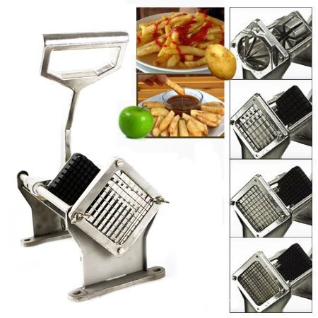 Purchase Xtremepowerus Commercial Potato French Fries Apple Fruit Vegetable Cutter Slicer W/ 4 Blade deliver