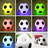 SOLMORE LED Colorful Football Fußball Lampe Nachtlicht...