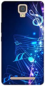 The Racoon Lean printed designer hard back mobile phone case cover for Gionee M5 Plus. (music fall)