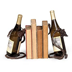Grape Vine Bottle Holder/Bookends