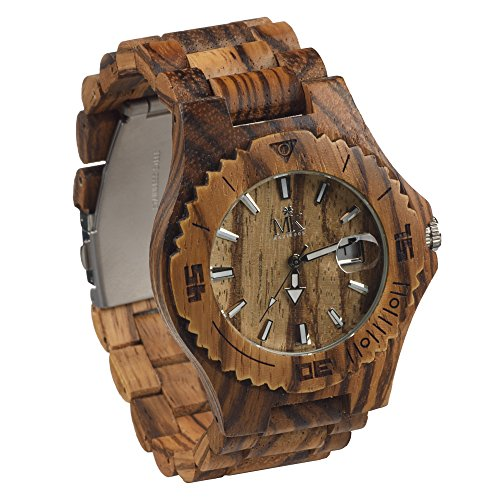Wooden-Watch-For-Men-Women-Maui-Kool-Lahaina-Collection-Zebrawood-Analog-Wood-Watch-Bamboo-Gift-Box