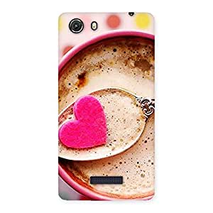 Ajay Enterprises Pink Love Coffee Multicolors Back Case Cover for Micromax Unite 3