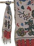 Multicolor Hand Painted Kalamkari Dupatta