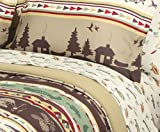 Fishing, Cabin, Lodge, Canoe Queen Comforter Set (8 Piece Bed In A Bag)