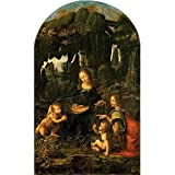 Tallenge Old Masters Collection - Madonna Of The Rocks By Leonardo Da Vinci - Premium Quality Rolled Canvas Art Print For Home And Office Décor