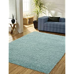 large duck egg blue thick pile x top quality shaggy rug. Black Bedroom Furniture Sets. Home Design Ideas