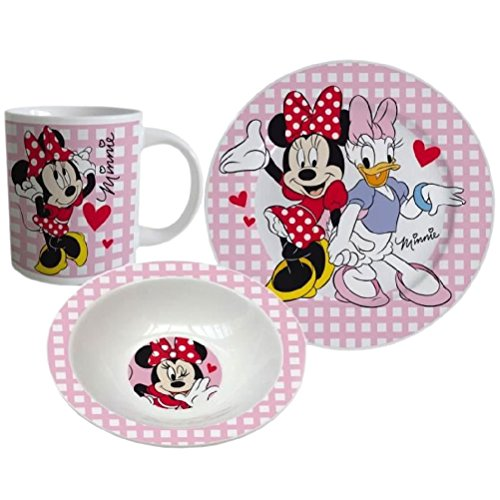 Disney Minnie Set da colazione, 3 pezzi - rosa -