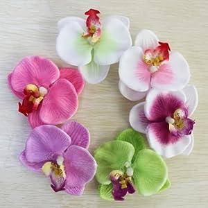 6pcs Orchid Flower Hair Clip For Bridal Wedding Hawaii Party Girl de Amasale en Bebe Hogar