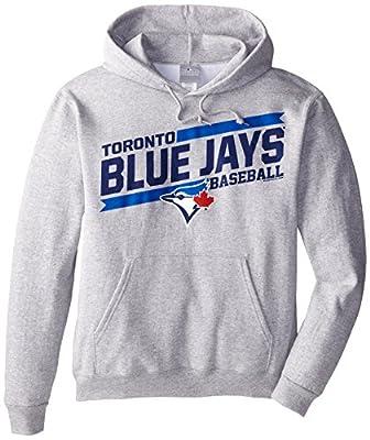 MLB Men's Back The Field Fleece Hooded Sweater Steel Heather