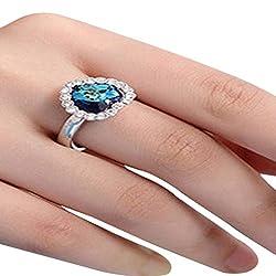 Titanic Heart of Ocean 19 Likes Finger rings for girls fancy thumb ringALRG0303BL